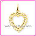 Fine jewelry 2013 gold heart style pendant jewelry H105842