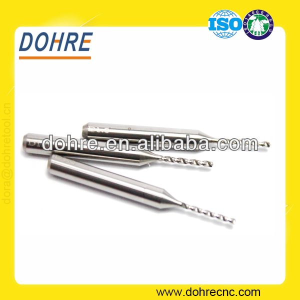 DOHRE 2 Flutes Drill Bit Sizes Solid Carbide Micro Twist Drill