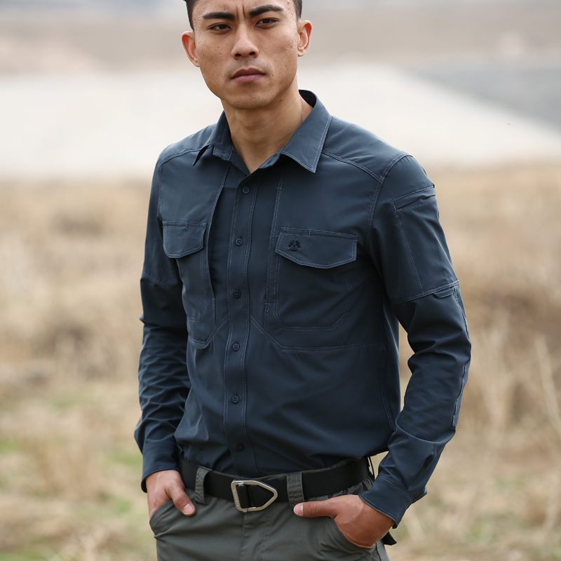 New comfortable elastic <strong>shirt</strong> outdoor scratch proof tactical <strong>shirt</strong> factory wholesale