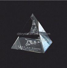 2014 Fashion High quality crystal singing pyramid/different color crystal pyramids MH-PY001