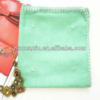 Lady square beautiful jeweled hijab scarf