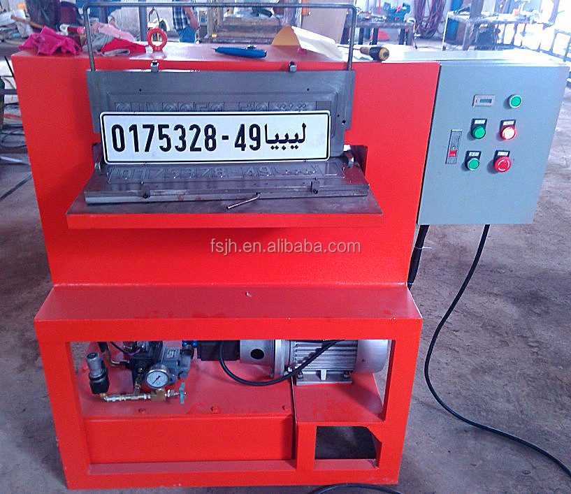 Electric License Plate Embossing Numbers Press Machine