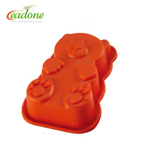 Teddy bear FDA microwave silicone cake molds for cake decorating