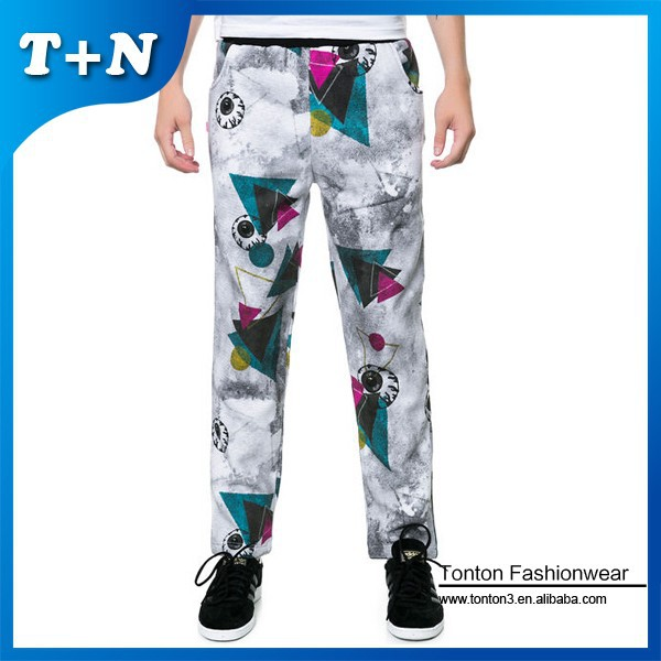 custom drop crotch joggers harem pants wide jogger pants