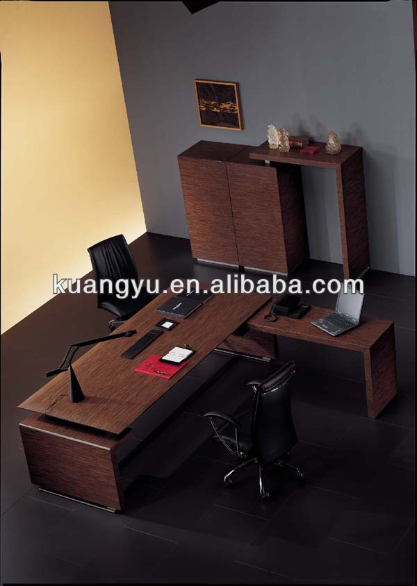 High quality cheap wood veneer office furniture ,L-shape office table,director table design