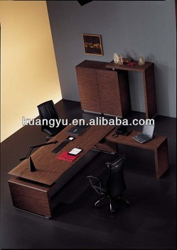 High quality cheap wood veneer office furniture l shape for Good quality affordable furniture