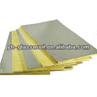 Lightweight Acoustical Glass Wool Ceiling Tiles Building materials