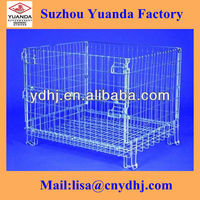 YD-K008 High Quality Stackable Metal Pallet Cage/Steel Pallet Cage/Wire Cage With Wheels