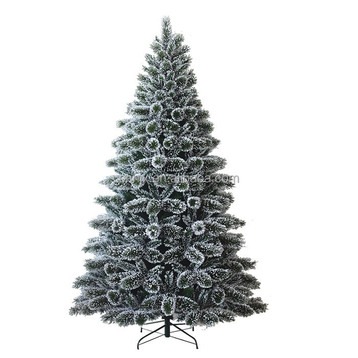 210CM White Branch Pine Needle Christmas Tree, Christmas Family Decoration