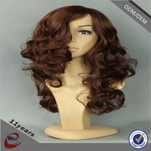 Eunice cheap price grey curly hair machine made wigs, u part wigs for sale