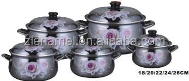 hot sale in Iraq/Black Enamel kettle with white dot