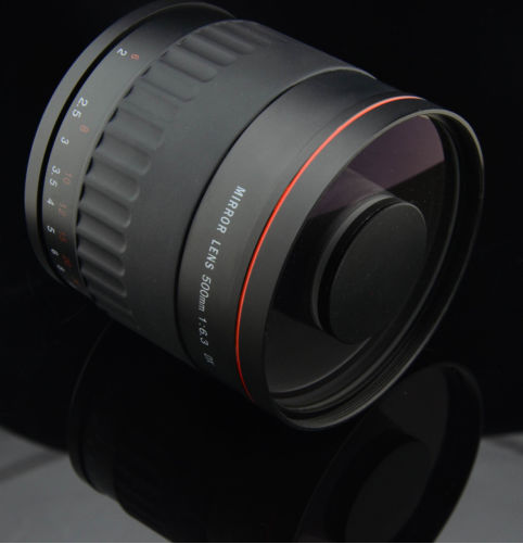 500mm f6.3 Reflex Mirror Manual Lens With T Camera Mount