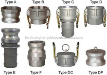 brass/Stainless Steel/PP/Nylon camlock coupling pipe fittings type