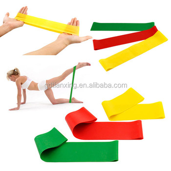 100% quality guarantee natural latex exercise loop band resistance band