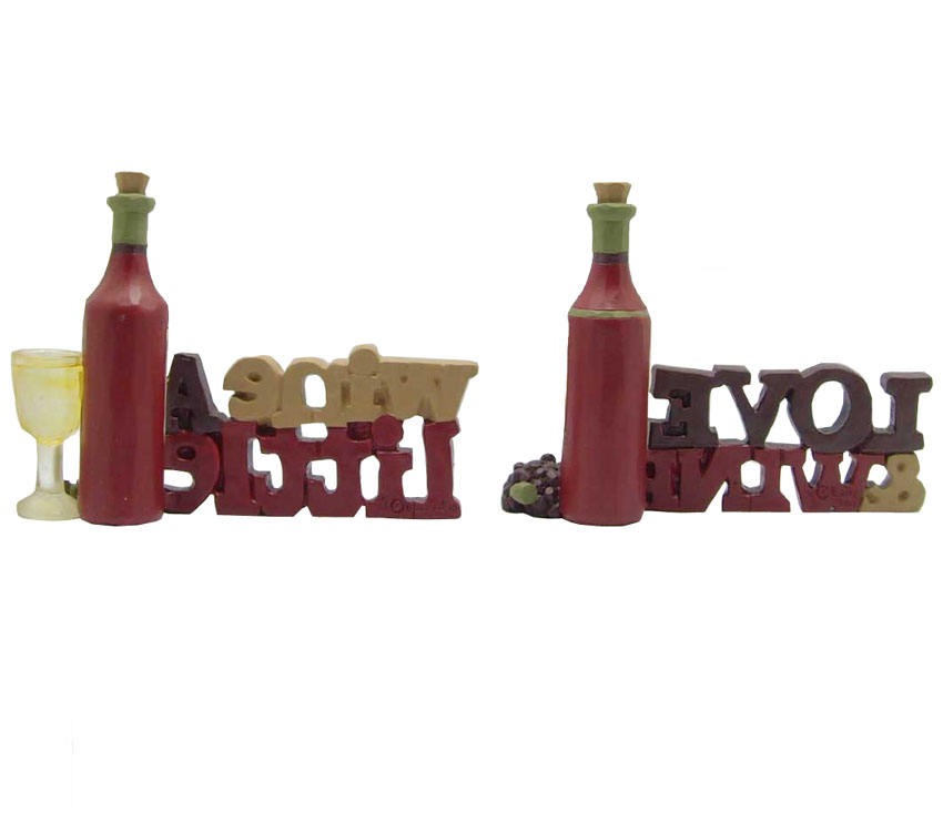With Words ' resin love wine ' Wine Decoration