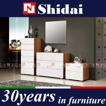 Modern white lacquer bedroom furniture set , cheap modern bedroom ...