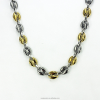 Chucky Silver And Gold Plated Mens Bead Chain Party costume jewellery
