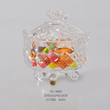 butterfly sugar bowl with glass lid