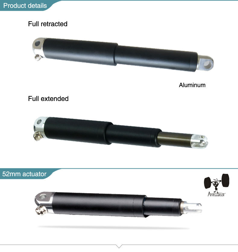 SITO MOTOR dc waterproof aluminum telescoping linear actuator/electric cylinde 12/24V for solar tracker