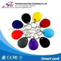 waterproof full color ABS plastic rfid key fob,keychain,t5577/em4305/em4100