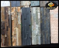 Natural slate stone exterior wall cladding