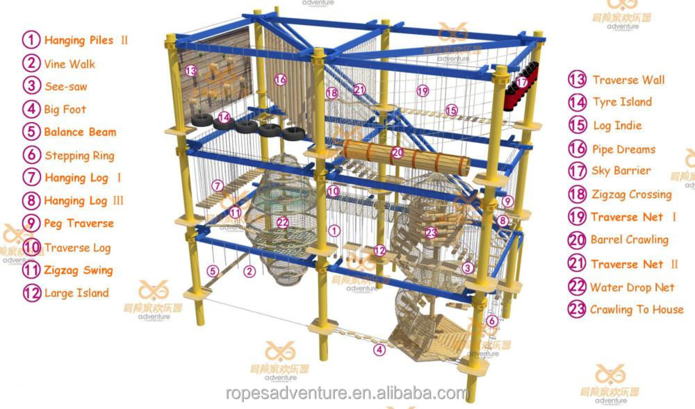 Vasia 2016 Climbing Ropes Nets Obstacle Rope Course Adventure Playground