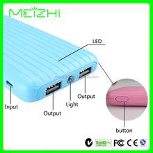 Outdoor luggage 8000mAh portable battery usb charger Mobile Power Bank
