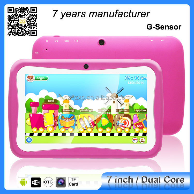 "ZXS-C2 RK3026 dual core dual camera googles android kids 7"" android tablet"