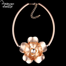 Dvacaman Brand 2017 Elegant Style Flower Choker Collar Custom Jewelry Women Vintage Leather Chain Statement Necklace Bijoux U77