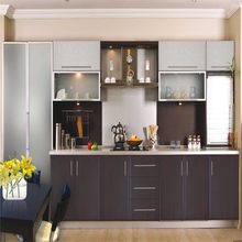Acrylic Free standing open shelf modular kitchen cabinets