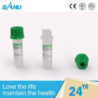Automatic various color green top heparin tube, Vacuum Lithium Heparin blood tubes