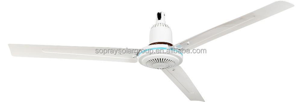 solar powered rechargeable DC ceiling fan