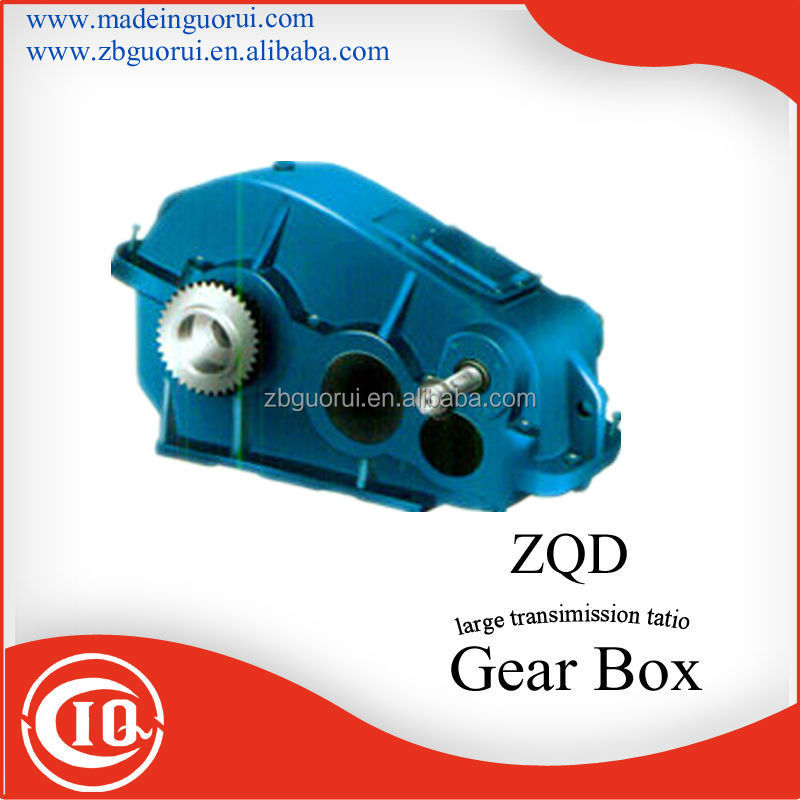 Zibo Boshan GVORVI ZQD ZQ ZQH JZQ ZQSH series 3:1 ratio cylindrical cast iron series gearbox/manual transmission gearbox