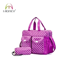 Trendy quilted toddler diaper bags with insulated bottole