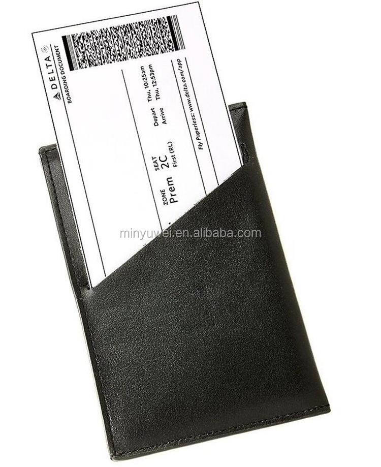 Leather RFID blocking passport pocket leather passport cover compact leather passport holder