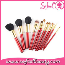 Sofeel 12 pc makeup brush set with synthetic vegan makeup brush