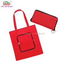 Reusable promotional non woven bags foldable tote bags with logo customized