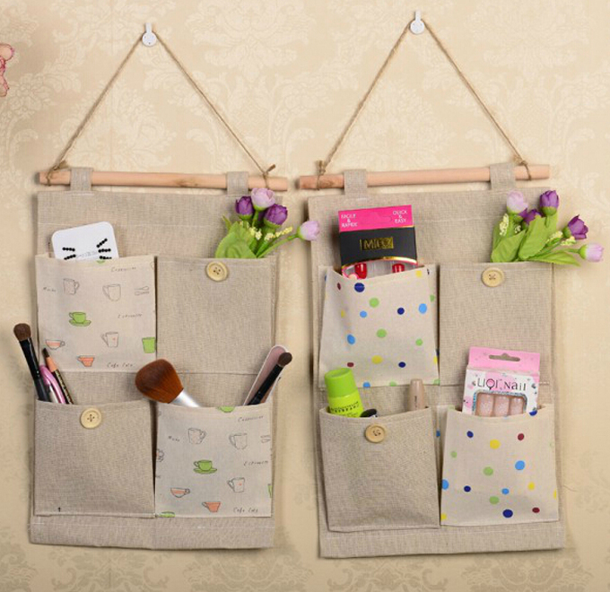 Wall Hanging Storage vintage jute wall hanging storage organizers household supplies