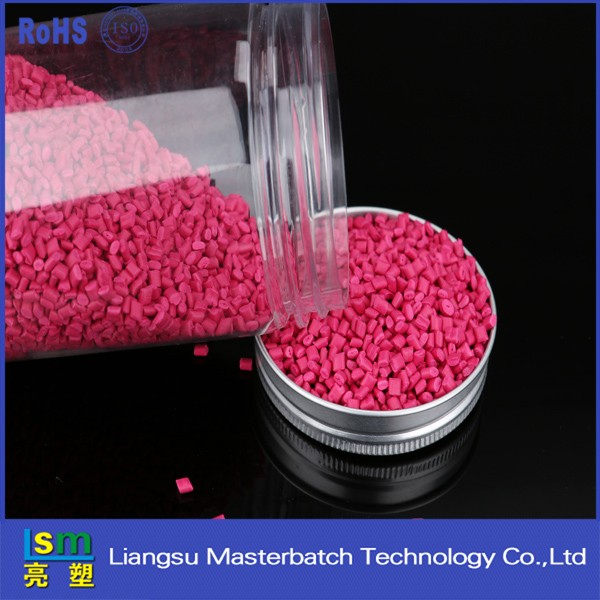 Color Rose Masterbatch for Virgin LDPE Granules / LDPE Resin / LDPE Pellets Plastic Raw material ldpe