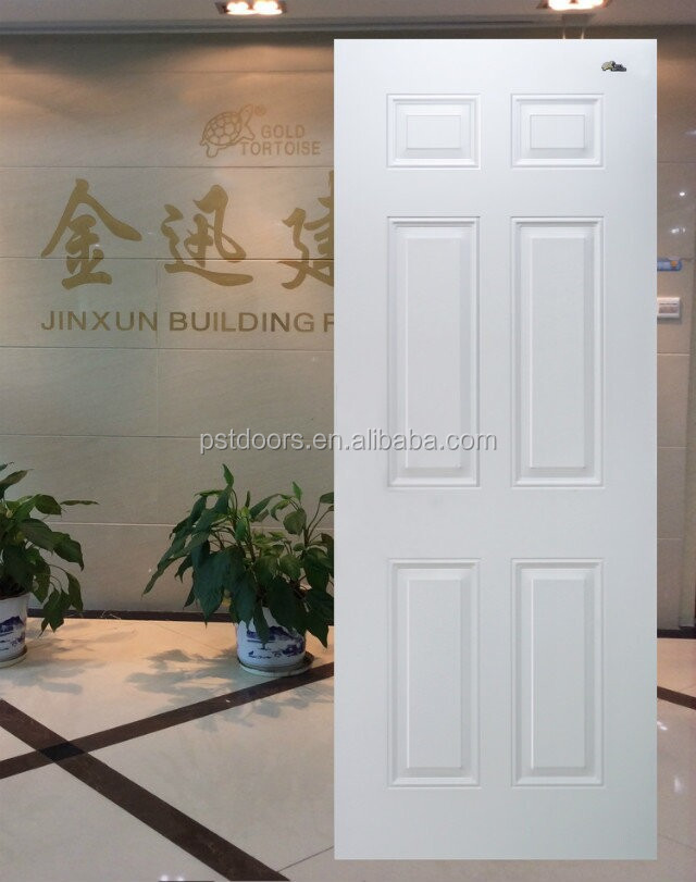 6 Panel Steel Door Slabwooden Edge Steel Doorentry Door Buy