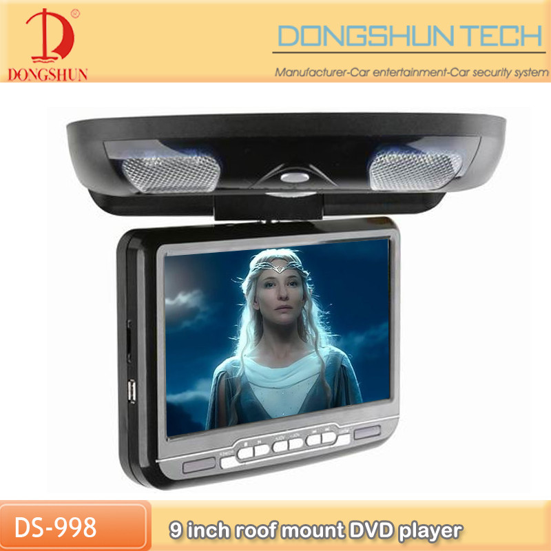 cheapest 9 inch Roof Mounted Car DVD Player With USB/SD//IR/DVD