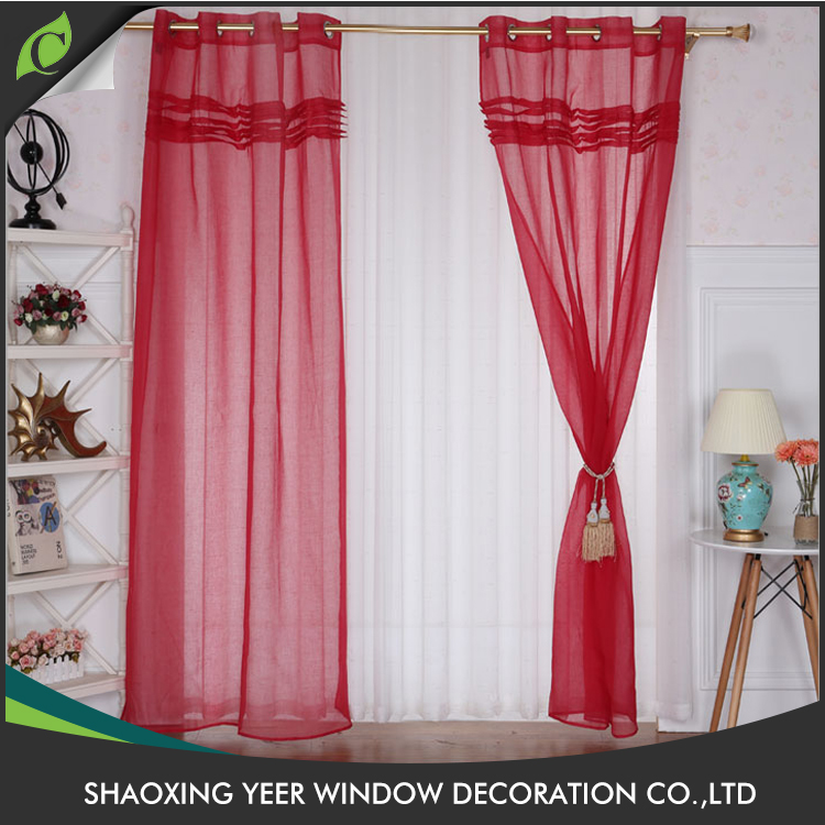 Hot selling romantic patterned sheer elegant valance curtain patterns