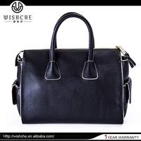 Wishche Wholesale Manufacturer Fashion Hot Sell Dongguan Handbag Leather Satchel Bags New Style Handbags Factory in China W0308