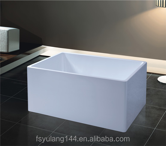 AD-6646 freestanding very small bathtub 1 meter acrylic square tube one-piece modern hot tub