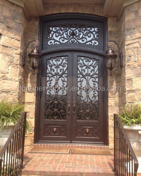 Used Iron Door Grill Designs Interior Wrought Iron Door: 2016 Arch Top Iron Doors/ Interior/ Entrance Door Designs