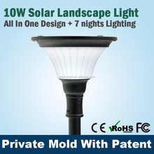 Buy High Quality Led Lawn Pole Mount Solar Light For Courtyards