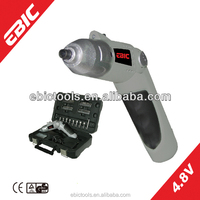 EBIC 4.8V dc motor mini cordless electric screwdriver with lithium battery