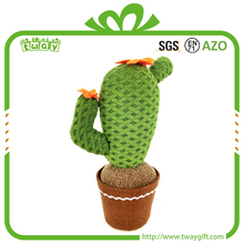 Aritificial fabric 11 inch cactus artificial decorative indoor cactus plant themed gifts