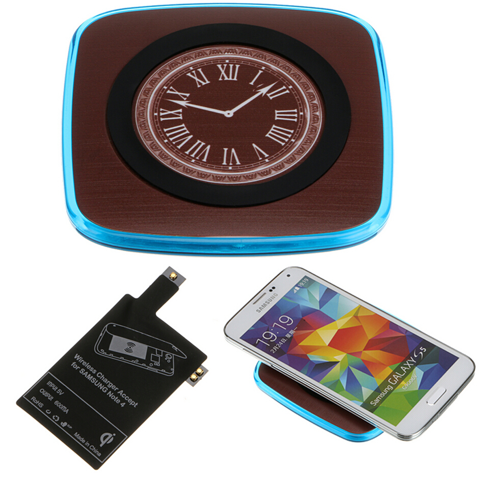 For Samsung Note 4 N910 Qi Charger Receiver With Inductive Coil + Qi Wireless Charger Pad Power Charing For Andriod Phone
