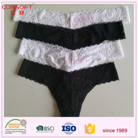 cheap price cotton lace ladies' sexy fancy panty thong g string